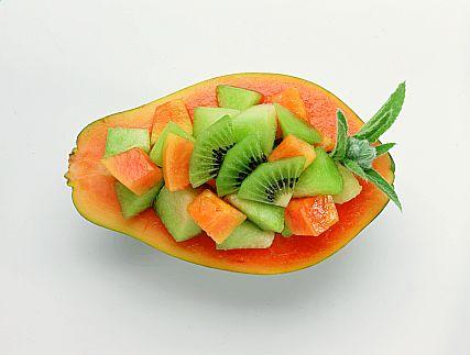 papaya kiwi