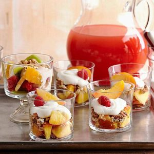 Berry and Papaya Parfait