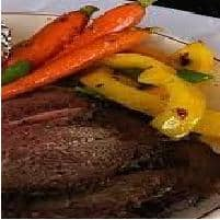 Roast Beef with Baked Vegetables