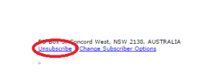 to unsubscribe