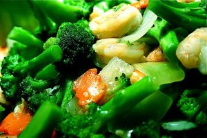 The Paleo Diet recommends that fresh vegetables and fruit should provide up to 45 percent of your daily calorie intake.