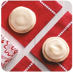 Frosted Eggnog Cookies low calorie recipe