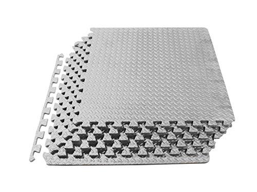 ProSource Puzzle Exercise Mat, EVA Foam Interlocking Tiles